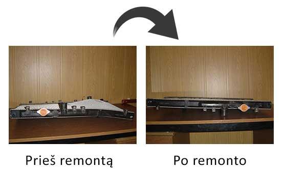 radiatorius iki remonto ir po remonto
